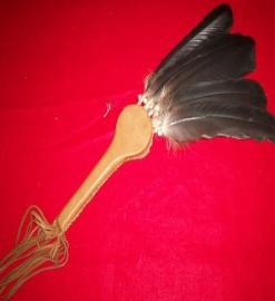 Five Feather Dance Fan