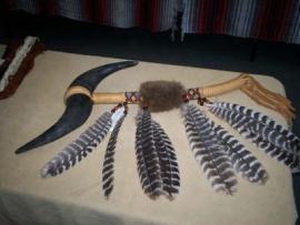 Double Buffalo Horn War Club