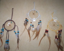 3 in. Deer Skin Lace Dream Catchers