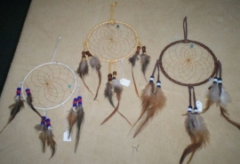 9 in. Deer Skin Lace Dream Catchers