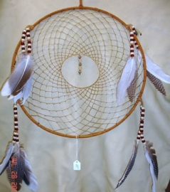 14 in. Suede Lace Rust Dreamcatcher