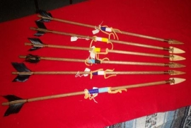 Beaded Arrows with Buffalo bone tips