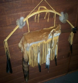 Deer Skin Bow with Red Fox Quiver