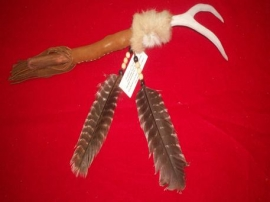 Deer antler dance stick