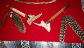 Large Elk Antler Pipes