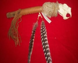 Porcupine Skull Dance stick