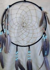 14 in. Suede Lace Black Dreamcatcher